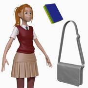Cartoon Teenage Student H2O3 Sculpt 3d model