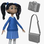 Cartoon Girl Student H2O2 Sculpt 3d model