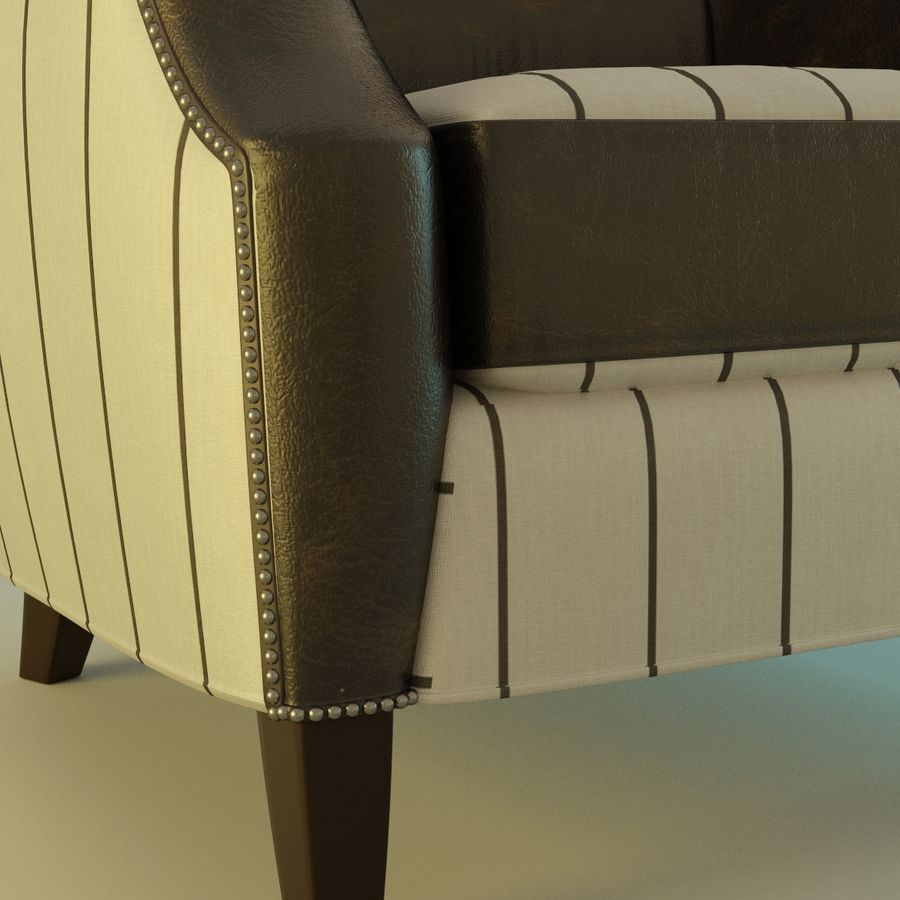 Leather armchair Fat royalty-free 3d model - Preview no. 5