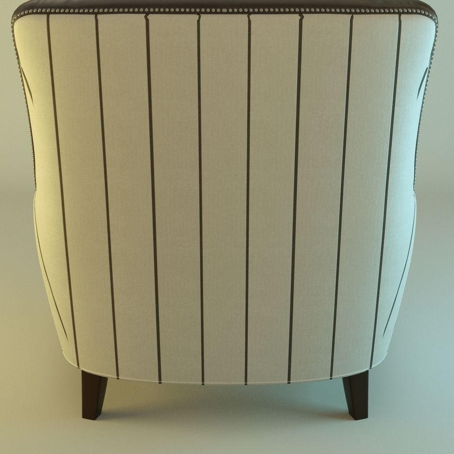 Leather armchair Fat royalty-free 3d model - Preview no. 4