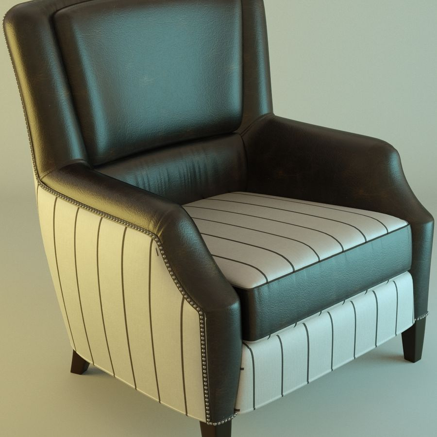 Leather armchair Fat royalty-free 3d model - Preview no. 2