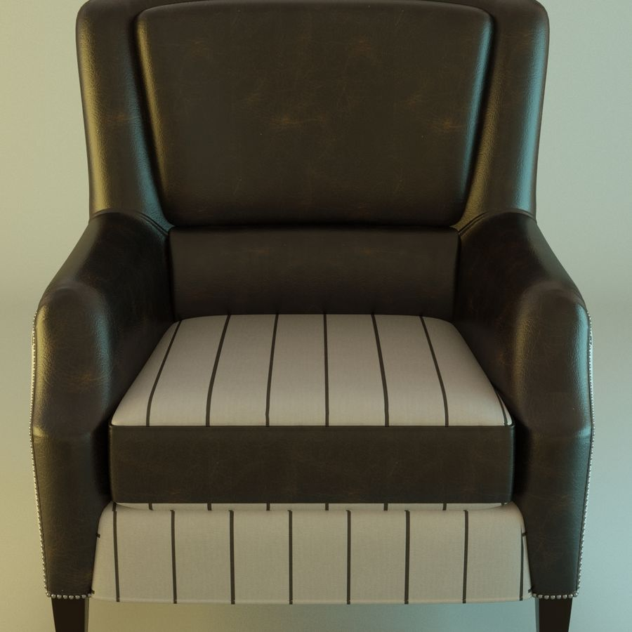 Leather armchair Fat royalty-free 3d model - Preview no. 1
