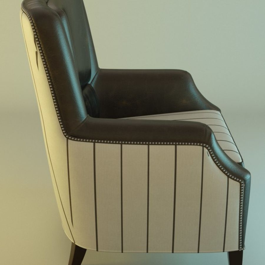 Leather armchair Fat royalty-free 3d model - Preview no. 3