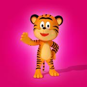 Petit tigre 3d model