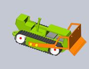 ブルドーザー 3d model