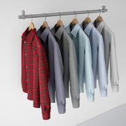 Koszula męska 1 3d model