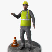 Фотореалистичный рабочий Rigged 3d model