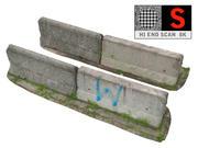 Balayage de la barrière en béton 8K 3d model