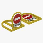 Verrouillage / barrière de stationnement manuel 3d model