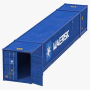 53 ft Wysyłka ISO Kontener Niebieski model 3D 3d model