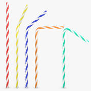 Drinking Straw 5 Pose (2 Texture) 3d model