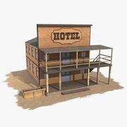 Western Building 7 Hotel 3d model
