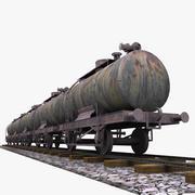 Vagão-tanque ferroviário 3d model