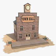 Western Building 11 Town Hall 3d model