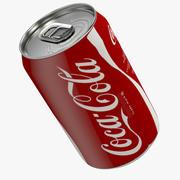 Coca-Cola Aluminum Can 3d model