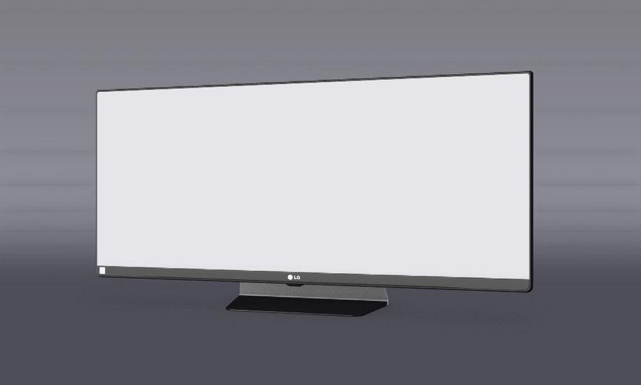 LG 34UM65 royalty-free 3d model - Preview no. 5