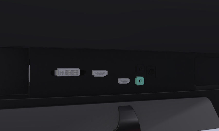 LG 34UM65 royalty-free 3d model - Preview no. 6