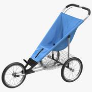 Jogging Stroller 3D Model 3d model