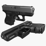 Модель 3D Компактный Пистолет 3d model