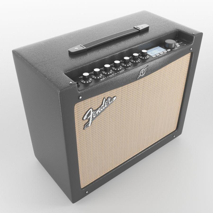 Förstärkare Fender royalty-free 3d model - Preview no. 2