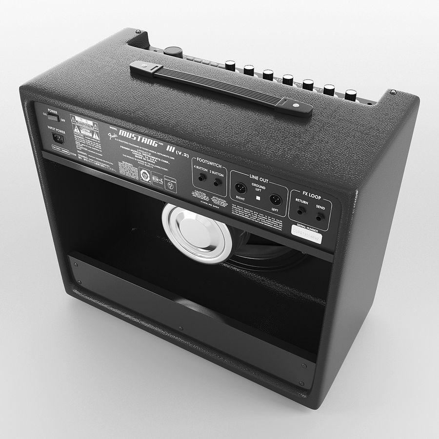 Förstärkare Fender royalty-free 3d model - Preview no. 4