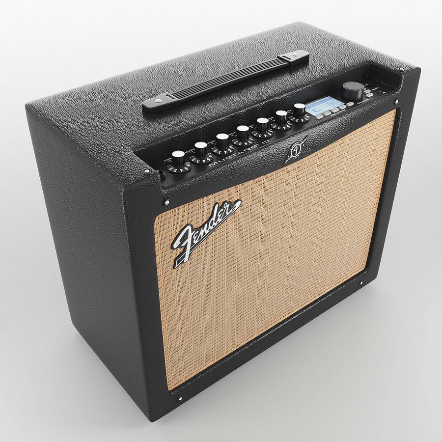 Förstärkare Fender royalty-free 3d model - Preview no. 3