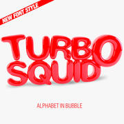 Bubble Letters Font 3d model