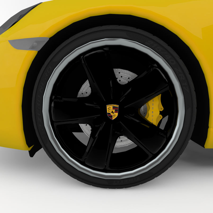Porsche 911 royalty-free 3d model - Preview no. 2