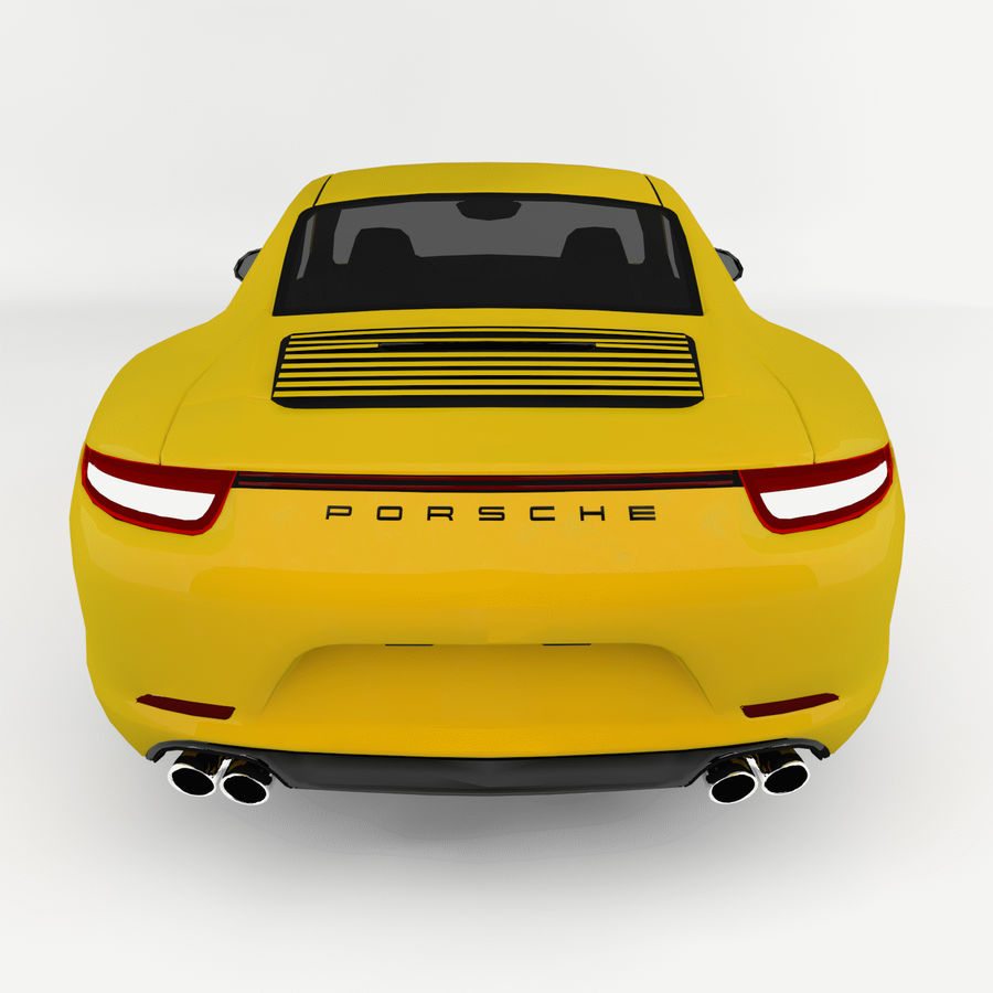 Porsche 911 royalty-free 3d model - Preview no. 5
