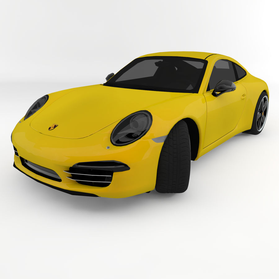 Porsche 911 royalty-free 3d model - Preview no. 7