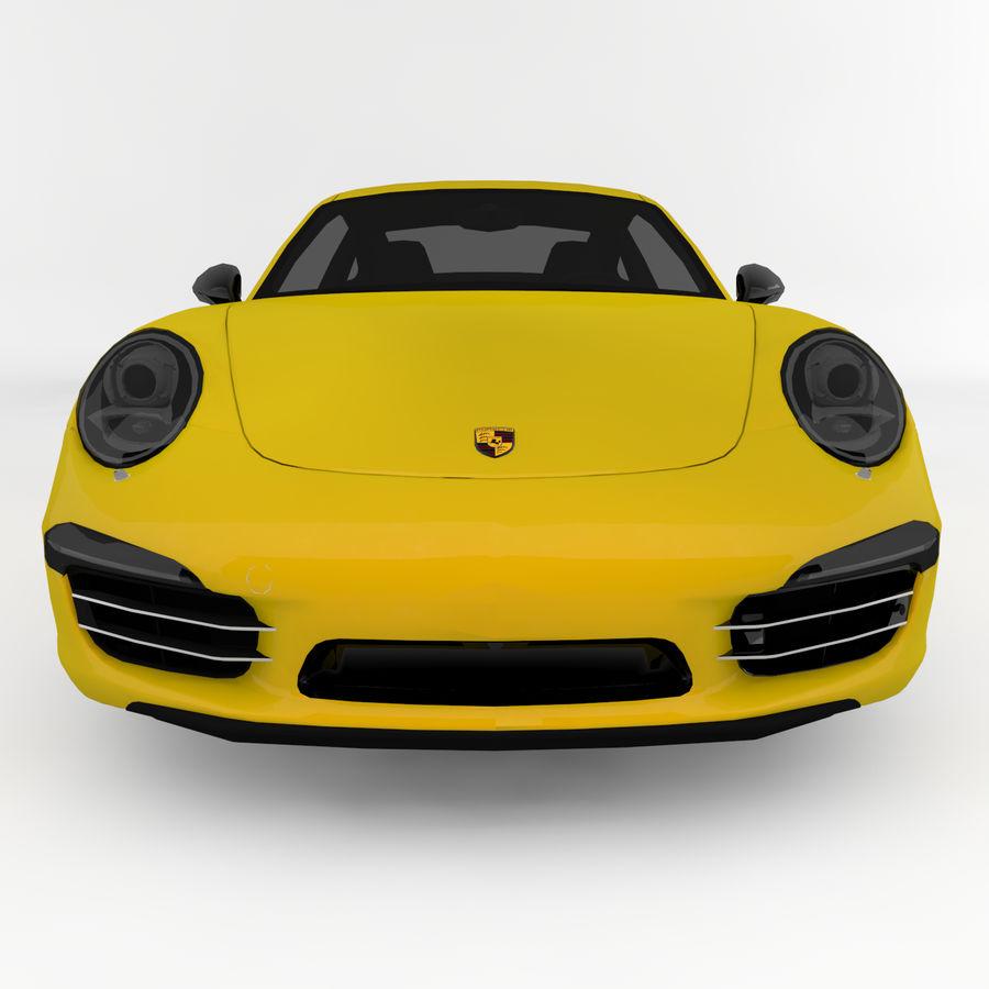 Porsche 911 royalty-free 3d model - Preview no. 4