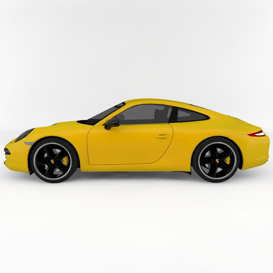 Porsche 911 royalty-free 3d model - Preview no. 3