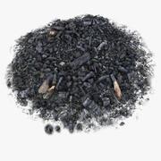 Realistic Wood Burnt Ashes Spot Pile Soil 3d model