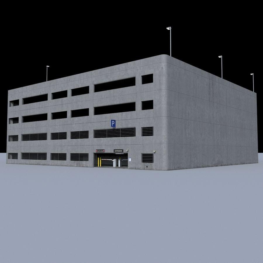 駐車場 royalty-free 3d model - Preview no. 2