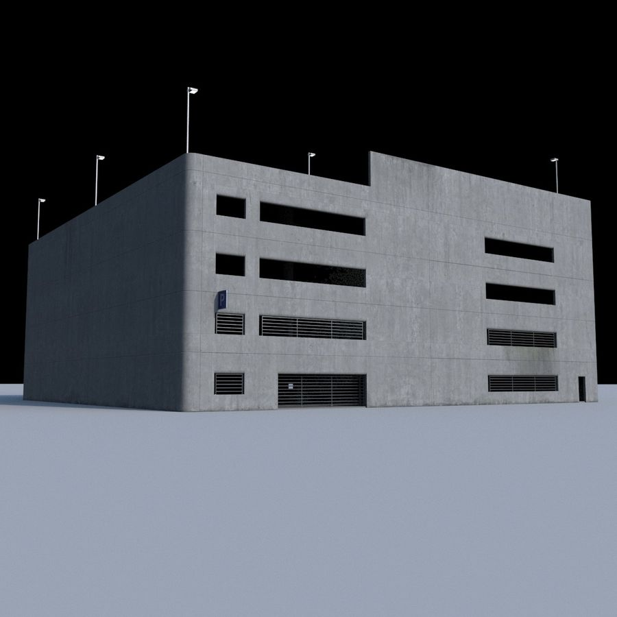 駐車場 royalty-free 3d model - Preview no. 3