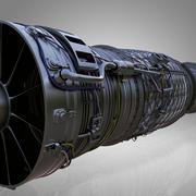 제트 엔진 3d model