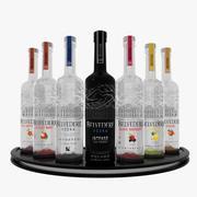 Zestaw polskiej wódki Belvedere 3d model