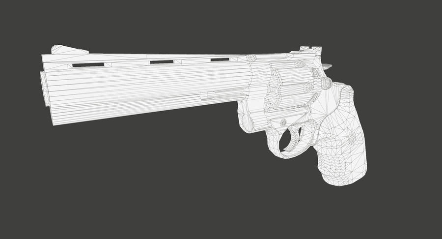 44 Magnum royalty-free 3d model - Preview no. 16
