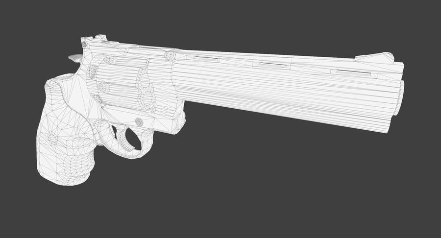 44 Magnum royalty-free 3d model - Preview no. 19
