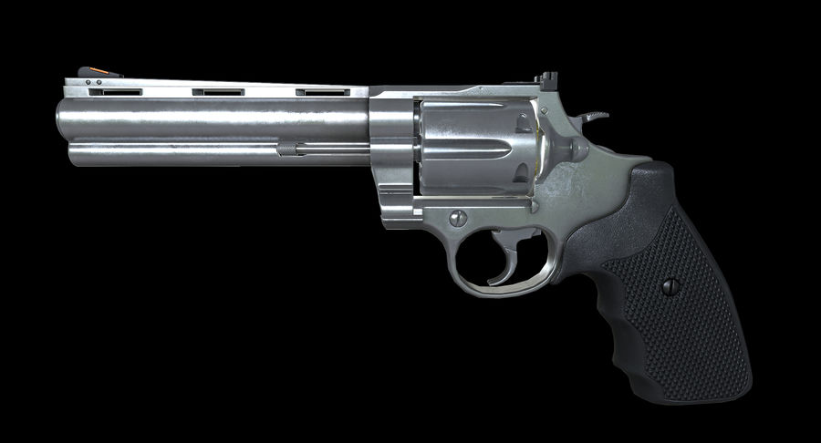 44 Magnum royalty-free 3d model - Preview no. 4