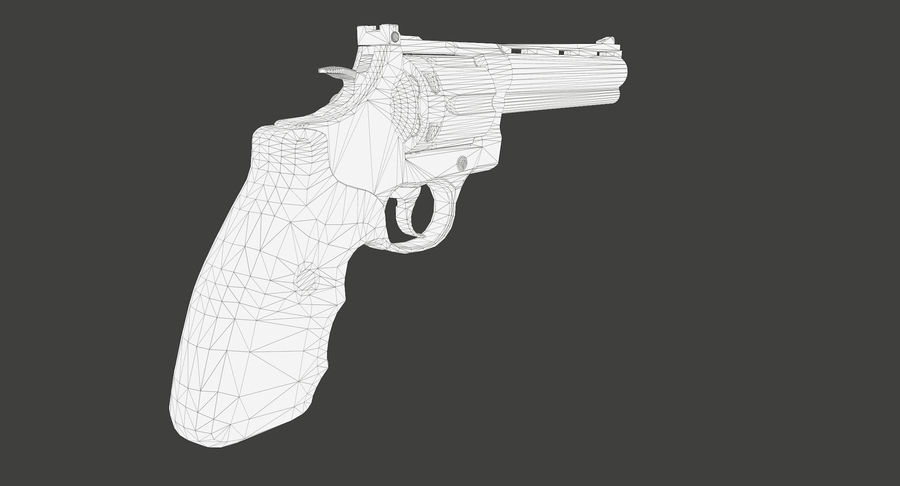 44 Magnum royalty-free 3d model - Preview no. 18