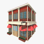 Bâtiment stylisé 3d model