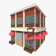 Stylized Building 3d model