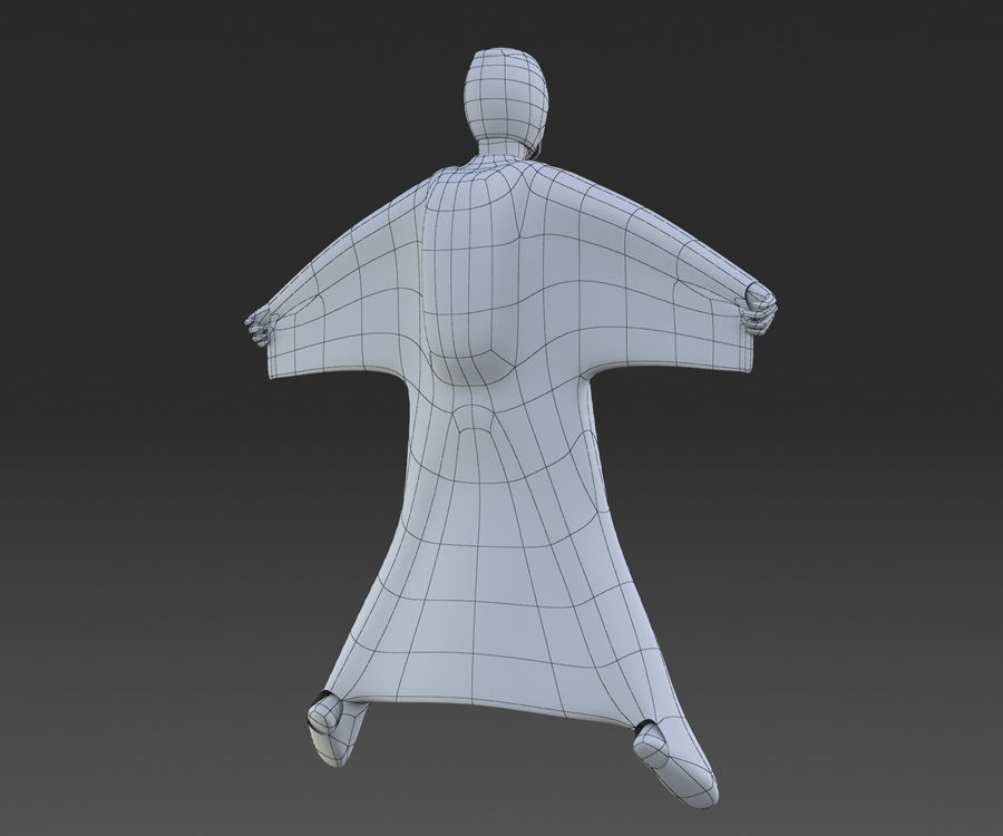 Skydiving Wingsuit modello 3D royalty-free 3d model - Preview no. 6