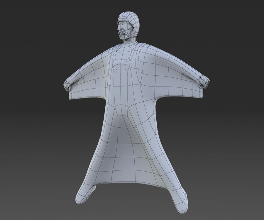Skydiving Wingsuit modello 3D royalty-free 3d model - Preview no. 5