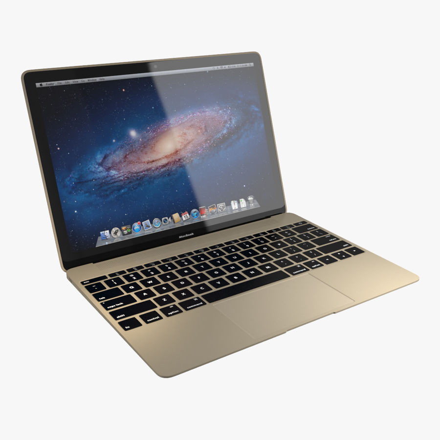 Apple MacBook 2015 royalty-free 3d model - Preview no. 1