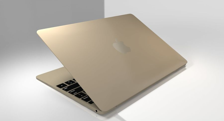 Apple MacBook 2015 royalty-free 3d model - Preview no. 12