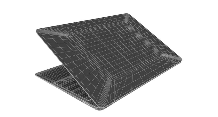 Apple MacBook 2015 royalty-free 3d model - Preview no. 13