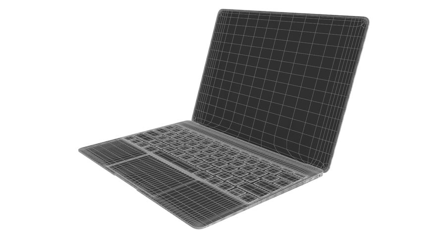 Apple MacBook 2015 royalty-free 3d model - Preview no. 10