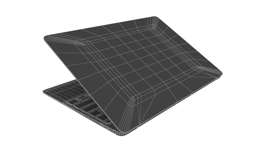 Apple MacBook 2015 royalty-free 3d model - Preview no. 14